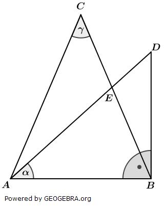 Realschulabschluss Wahlteilaufgaben Trigonometrie Aufgabengraphik W1a2017/© by www.fit-in-mathe-online.de