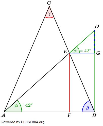 Realschulabschluss Trigonometrie Wahlteil W1a2017 Lösungs-Graphik/© by www.fit-in-mathe-online.de