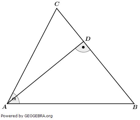 Realschulabschluss Wahlteilaufgaben Trigonometrie Aufgabengraphik W1a2018/© by www.fit-in-mathe-online.de