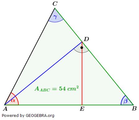 Realschulabschluss Trigonometrie Wahlteil W1a2018 Lösungs-Graphik/© by www.fit-in-mathe-online.de
