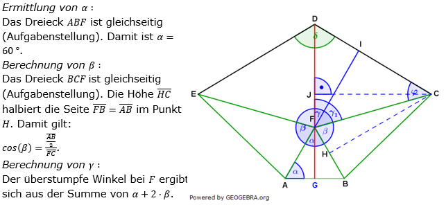 Realschulabschluss Trigonometrie Wahlteil W1a2019 Lösung Bild 1/© by www.fit-in-mathe-online.de