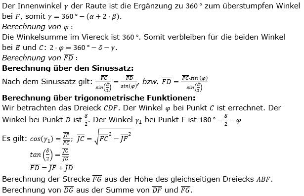 Realschulabschluss Trigonometrie Wahlteil W1a2019 Lösung Bild 2/© by www.fit-in-mathe-online.de