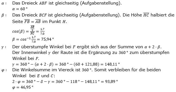 Realschulabschluss Trigonometrie Wahlteil W1a2019 Lösung Bild 3/© by www.fit-in-mathe-online.de