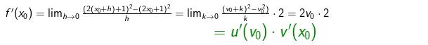 Nun geht für h gegen 0 auch k gegen 0 und wir erhalten: (WIKI zur Ableitung mit der Kettenregel Bild W0012/© by www.fit-in-mathe-online.de)