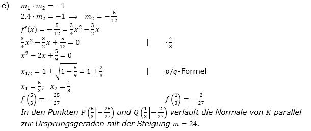 Tangente und Normale in der Differenzialrechnung. Lösungen zum Aufgabensatz 3 Blatt 1/1 Grundlagen Bild 2/© by www.fit-in-mathe-online.de