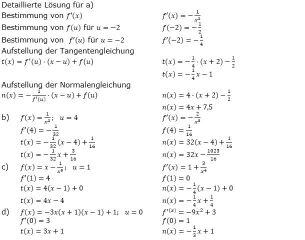 tangente und normale 1 2 aufgaben fit in mathe online. Black Bedroom Furniture Sets. Home Design Ideas