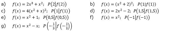 Gib die Gleichung der Tangente an Kf im Berührpunkt P an. (Grafik A130101 im Aufgabensatz 1 Blatt 1/3 Grundlagen zu Tangente und Normale in der Differenzialrechnung) /© by www.fit-in-mathe-online.de)