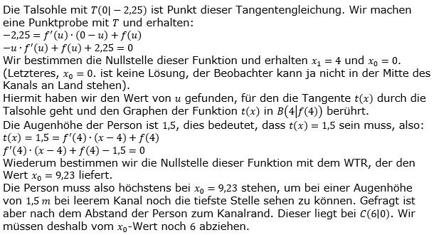 Tangente und Normale in der Differenzialrechnung. Lösungslogik zum Aufgabensatz 3 Blatt 3/4 Expert Bild 2/© by www.fit-in-mathe-online.de