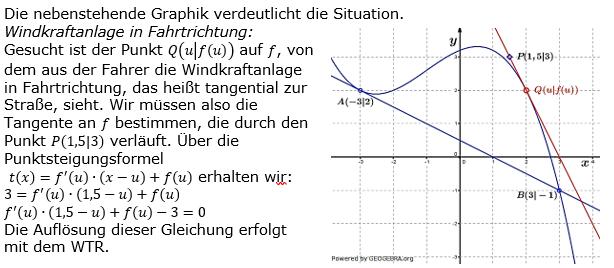 Tangente und Normale in der Differenzialrechnung. Lösungslogik zum Aufgabensatz 5 Blatt 3/4 Expert Bild 1/© by www.fit-in-mathe-online.de