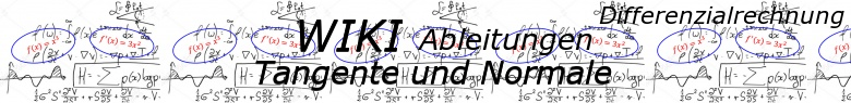 WIKI zu Tangenten und Normalen in der Differenzialrechnung / © by Fit-in-Mathe-Online.de