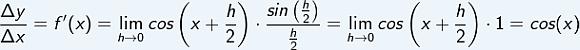 Vom Differenzenquotienten zum Differenzialquotienten der Ableitung der sin-Funktion im WIKI Ableitungen trionometrische Funktionen /© by Fit-in-Mathe-Online