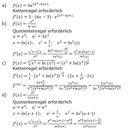 Ableitungen vermischte Aufgaben Lösungen zum Aufgabensatz 2 Blatt 3/3 Expert Bild 1/© by www.fit-in-mathe-online.de