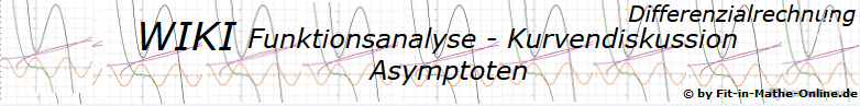 WIKI zu Asymptoten in der Kurvendiskussion / © by Fit-in-Mathe-Online.de