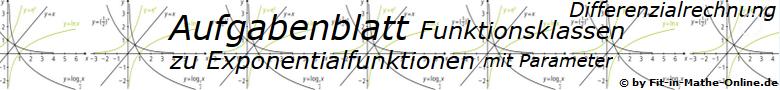 Exponentialfunktionen der Funktionsklassen Aufgaben und Lösungen/© by www.fit-in-mathe-online.de