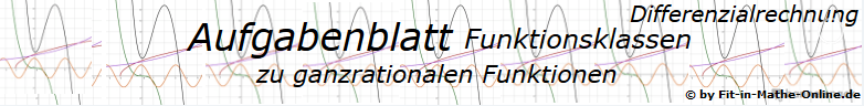Ganzrationale Funktionen der Funktionsklassen Aufgaben und Lösungen/© by www.fit-in-mathe-online.de