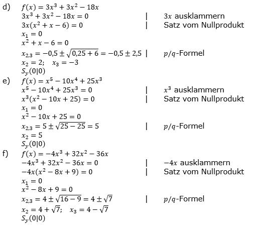Ganzrationale Funktionen Lösungen zum Aufgabensatz 5 Blatt 1/3 Grundlagen Bild 2/© by www.fit-in-mathe-online.de
