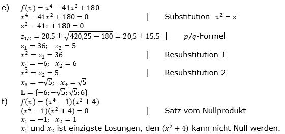 Ganzrationale Funktionen Lösungen zum Aufgabensatz 7 Blatt 1/3 Grundlagen Bild 2/© by www.fit-in-mathe-online.de