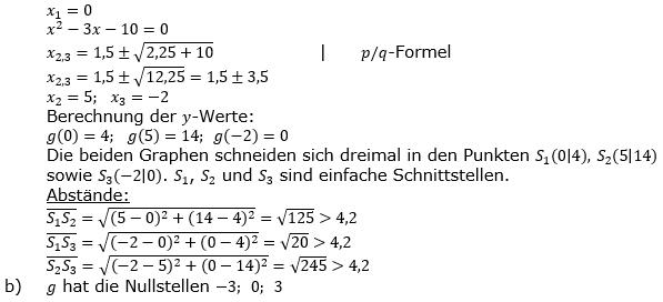 Ganzrationale Funktionen Lösungen zum Aufgabensatz 4 Blatt 1/5 Grundlagen Bild 2/© by www.fit-in-mathe-online.de