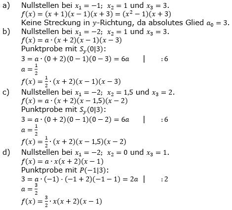 Ganzrationale Funktionen Lösungen zum Aufgabensatz 2 Blatt 2/1 Fortgeschritten Bild 1/© by www.fit-in-mathe-online.de