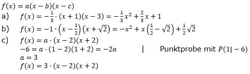 Ganzrationale Funktionen Lösungen zum Aufgabensatz 3 Blatt 2/1 Fortgeschritten Bild 1/© by www.fit-in-mathe-online.de