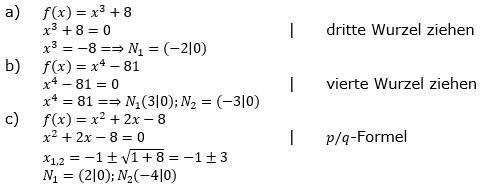 Ganzrationale Funktionen Lösungen zum Aufgabensatz 5 Blatt 2/1 Fortgeschritten Bild 1/© by www.fit-in-mathe-online.de