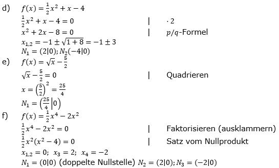 Ganzrationale Funktionen Lösungen zum Aufgabensatz 5 Blatt 2/1 Fortgeschritten Bild 2/© by www.fit-in-mathe-online.de