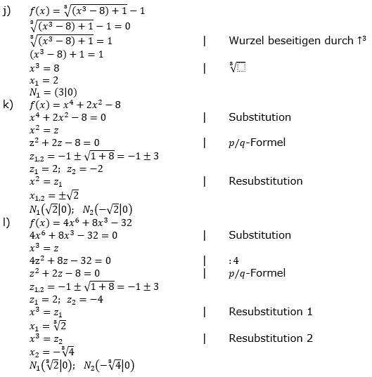 Ganzrationale Funktionen Lösungen zum Aufgabensatz 5 Blatt 2/1 Fortgeschritten Bild 4/© by www.fit-in-mathe-online.de