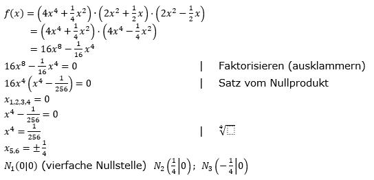 Ganzrationale Funktionen Lösungen zum Aufgabensatz 6 Blatt 2/1 Fortgeschritten Bild 1/© by www.fit-in-mathe-online.de