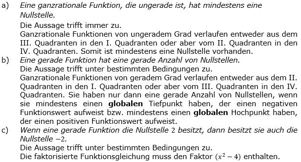 Ganzrationale Funktionen Lösungen zum Aufgabensatz 7 Blatt 2/1 Fortgeschritten Bild 1/© by www.fit-in-mathe-online.de
