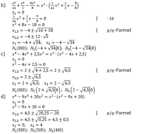 Ganzrationale Funktionen Lösungen zum Aufgabensatz 3 Blatt 2/2 Fortgeschritten Bild 2/© by www.fit-in-mathe-online.de