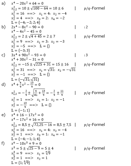 Ganzrationale Funktionen Lösungen zum Aufgabensatz 6 Blatt 2/2 Fortgeschritten Bild 1/© by www.fit-in-mathe-online.de