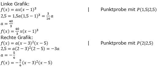 Ganzrationale Funktionen Lösungen zum Aufgabensatz 10 Blatt 2/2 Fortgeschritten Bild 1/© by www.fit-in-mathe-online.de