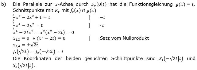 Ganzrationale Funktionen Lösungen zum Aufgabensatz 7 Blatt 3/1 Expert Bild 2/© by www.fit-in-mathe-online.de