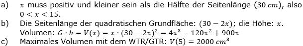 Ganzrationale Funktionen Lösungen zum Aufgabensatz 5 Blatt 3/3 Expert Bild 1/© by www.fit-in-mathe-online.de