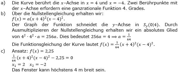 Ganzrationale Funktionen Lösungen zum Aufgabensatz 8 Blatt 3/3 Expert Bild 1/© by www.fit-in-mathe-online.de