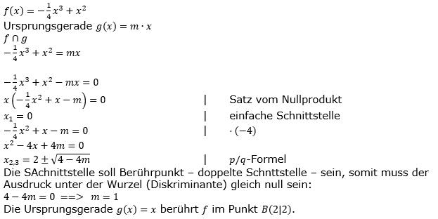 Ganzrationale Funktionen Lösungen zum Aufgabensatz 1 Blatt 3/5 Expert Bild 1/© by www.fit-in-mathe-online.de