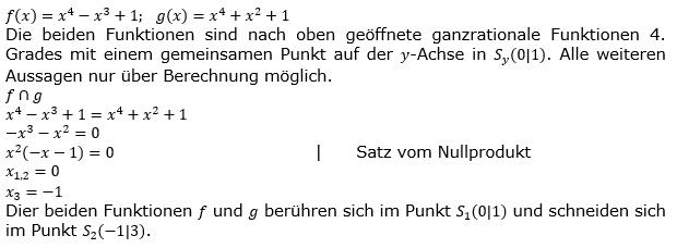 Ganzrationale Funktionen Lösungen zum Aufgabensatz 2 Blatt 3/5 Expert Bild 1/© by www.fit-in-mathe-online.de