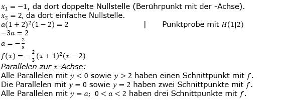 Ganzrationale Funktionen Lösungen zum Aufgabensatz 5 Blatt 3/5 Expert Bild 1/© by www.fit-in-mathe-online.de