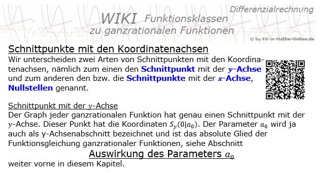 wiki schnittpunkte koordinatenachsen ganzrationale funktionen. Black Bedroom Furniture Sets. Home Design Ideas