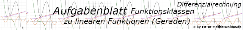Lineare Funktionen (Geraden) der Funktionsklassen - Aufgabenblätter/© by www.fit-in-mathe-online.de