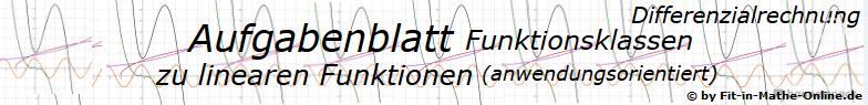 Lineare Funktionen (anwendungsorientiert) der Funktionsklassen - Aufgabenblätter/© by www.fit-in-mathe-online.de