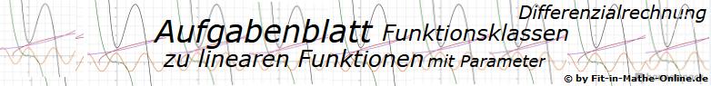 Lineare Funktionen mit Parameter der Funktionsklassen - Aufgabenblätter/© by www.fit-in-mathe-online.de