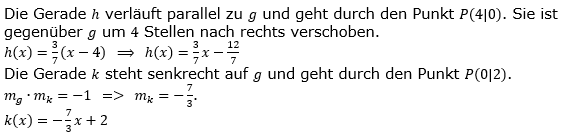 Lineare Funktionen der Funktionsklassen. Lösungen zum Aufgabensatz 3 Blatt 2/1 Fortgeschritten Bild 1 /© by www.fit-in-mathe-online.de