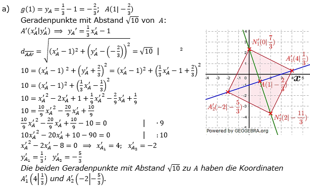 Lineare Funktionen der Funktionsklassen. Lösungen zum Aufgabensatz 5 Blatt 2/2 Fortgeschritten Bild 1 /© by www.fit-in-mathe-online.de