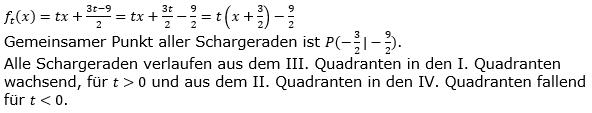 Lineare Funktionen der Funktionsklassen. Lösungen zum Aufgabensatz 4 Blatt 3/3 Expert Bild1 /© by www.fit-in-mathe-online.de)
