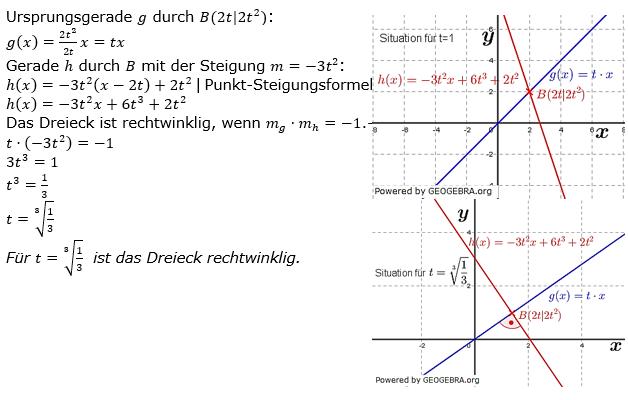 Lineare Funktionen der Funktionsklassen. Lösungen zum Aufgabensatz 5 Blatt 3/3 Expert Bild1 /© by www.fit-in-mathe-online.de)