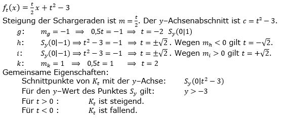 Lineare Funktionen der Funktionsklassen. Lösungen zum Aufgabensatz 8 Blatt 3/3 Expert Bild1 /© by www.fit-in-mathe-online.de)