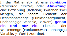 Merksatz Funktionsbegriff/© by www.fit-in-mathe-online.de)