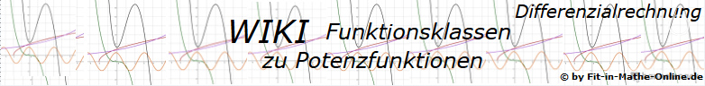 WIKI zu Potenzfunktionen der Funktionsklassen / © by Fit-in-Mathe-Online.de