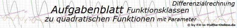 Quadratische Funktionen mit Parameter der Funktionsklassen - Aufgabenblätter/© by www.fit-in-mathe-online.de